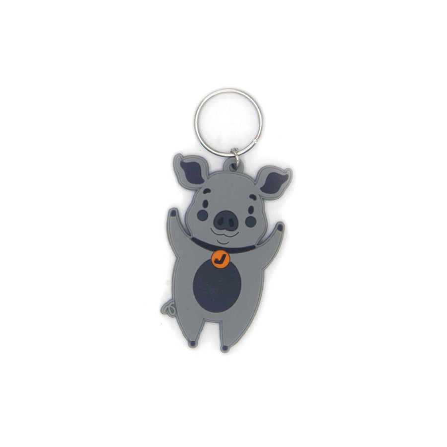 Key ring Name Tag - pig - Jordbarn