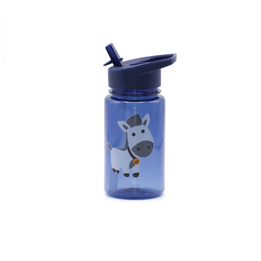 Water bottle - horse - indigo - Jordbarn