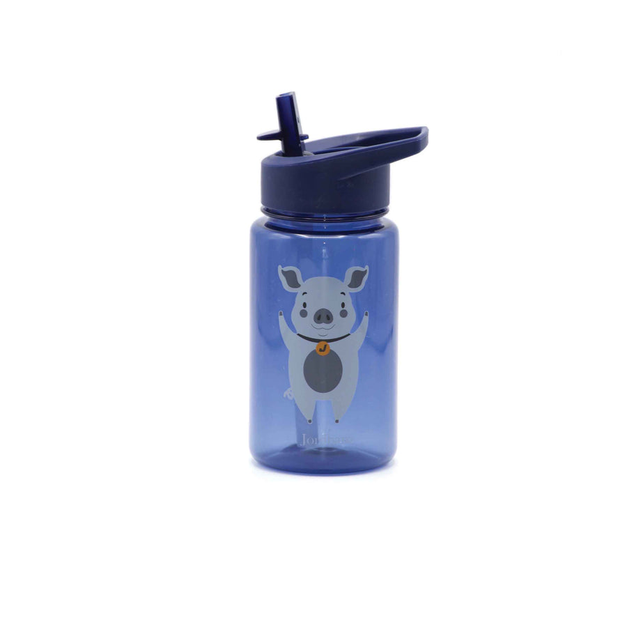 Water bottle - pig - indigo - Jordbarn