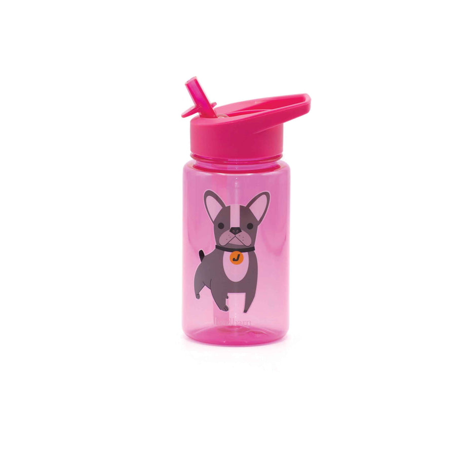 Water bottle - dog - magenta - Jordbarn