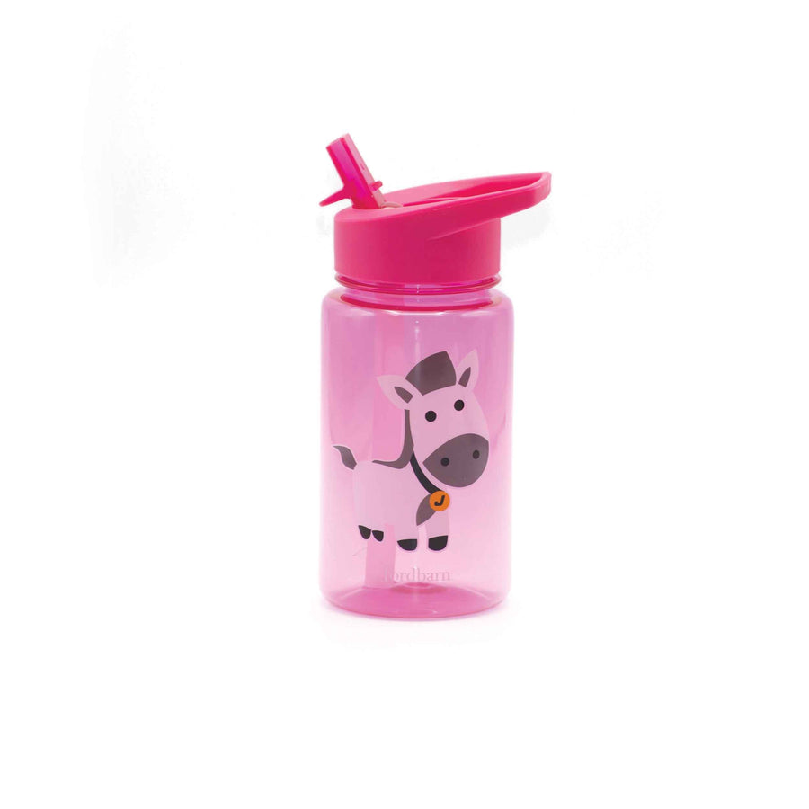 Water bottle - horse - magenta - Jordbarn