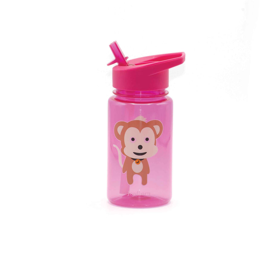 Water bottle - monkey - magenta - Jordbarn