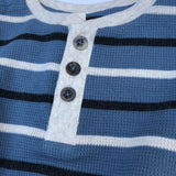 Boys strip henley shirt  (2492719071314)