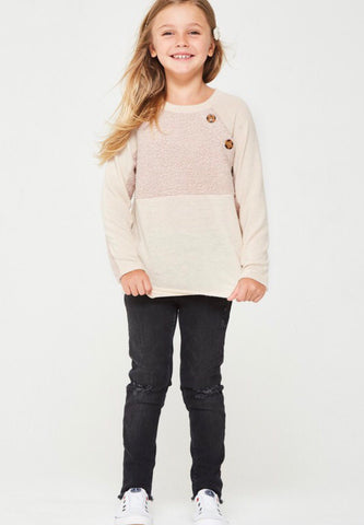 Button Trim Sweater (4113503322194)