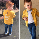 Organic Baseball Jacket - Coolest Kid (2514754535506)