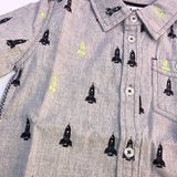 Button Down Rocket Ships (4064485146706)