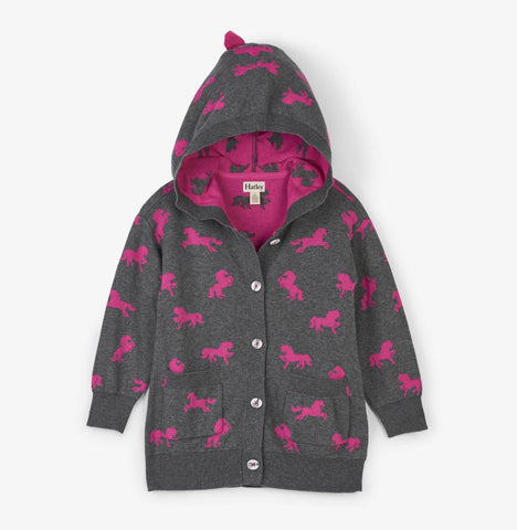 Girls Cardigan with pony graphic (4064460210258)