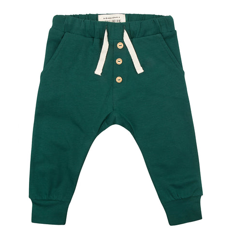 Organic Sweat Pants - Pine Green (2515350356050)