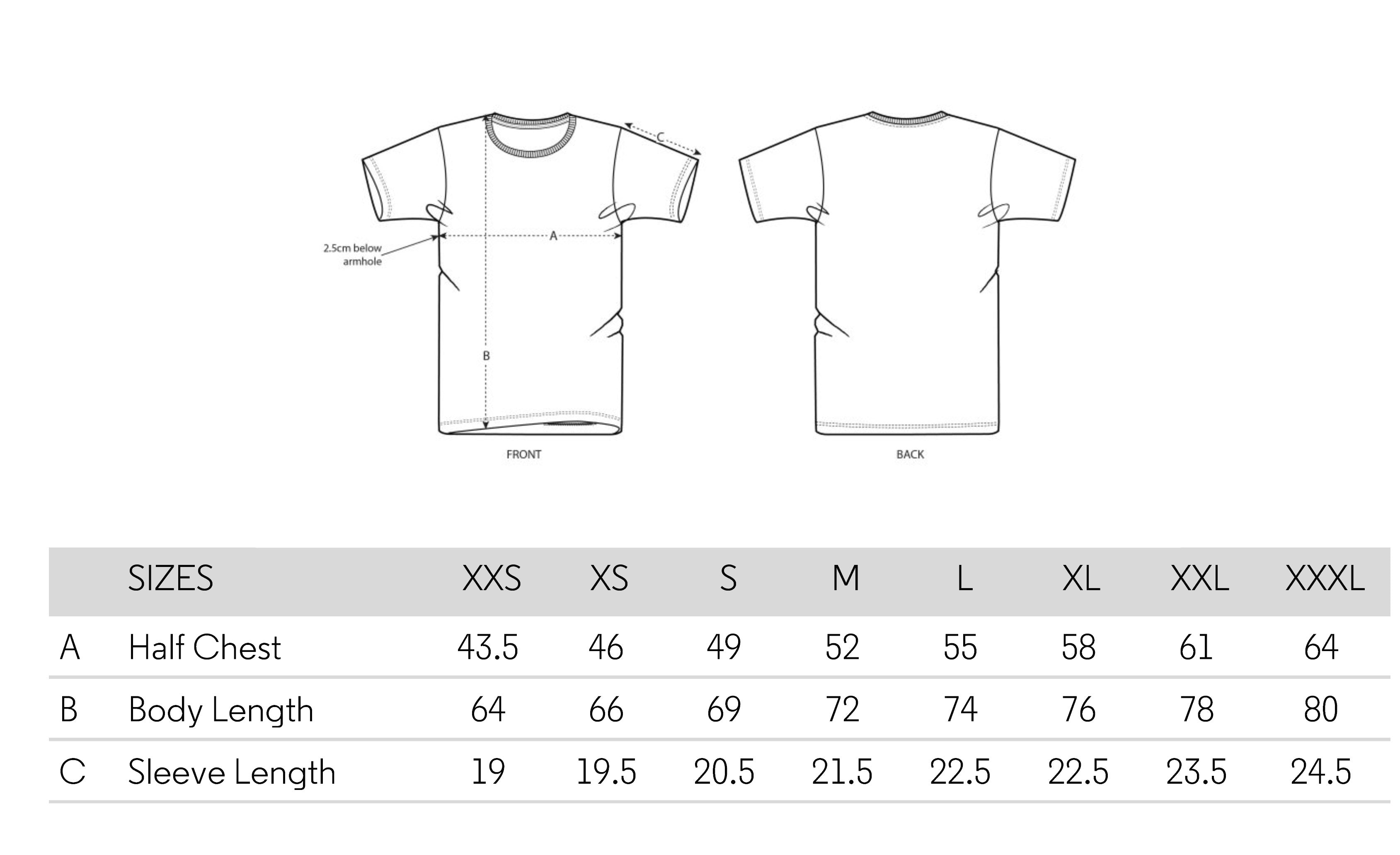 the-slow-label-t-shirt-sizing-chart