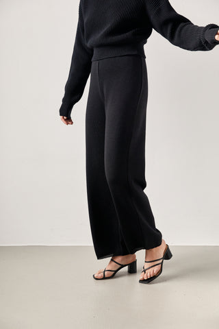 The Wool Pants Black
