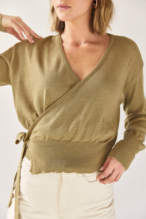 The Wool Wrap Top Leaf