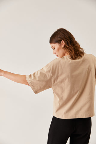 The Oversized Boxy Tee Desert