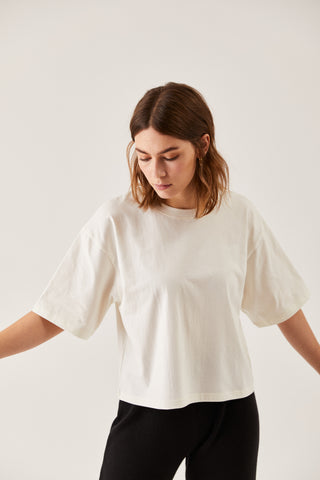 The Oversized Boxy Tee Ecru