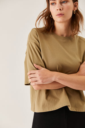 The Oversized Boxy Tee Leaf