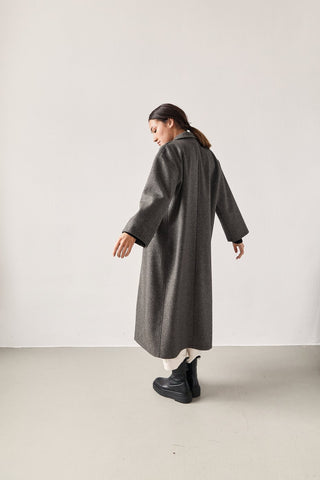 The Wool Overcoat Dark Grey
