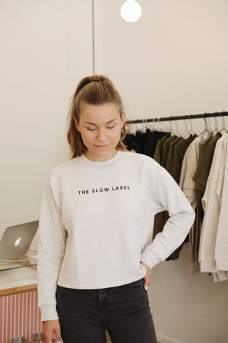 The Slow Label Cropped Sweatshirt
