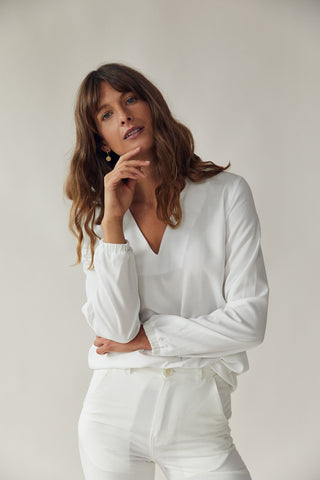 The V-Neck Blouse White