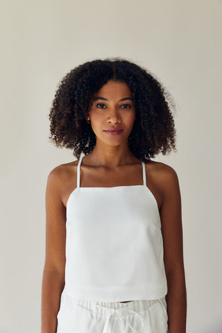 The Cropped Tank White