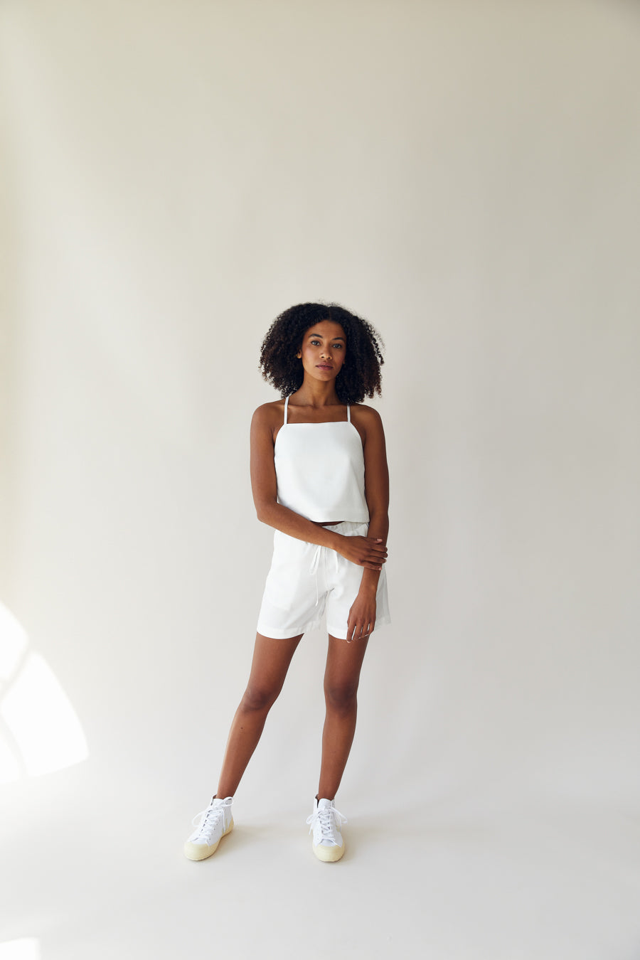 The Basic Shorts White