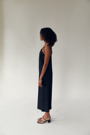 The Long Tank Dress Black