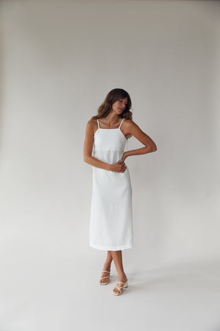 The Long Tank Dress White