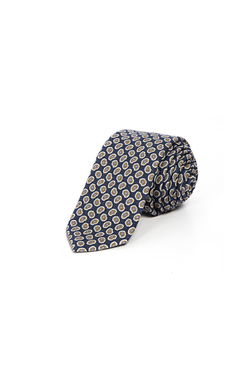 Romano Botta Navy Flowered Wool Tie
