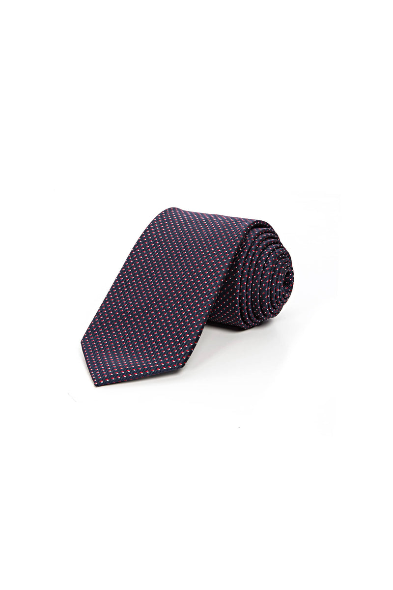 Romano Botta Dotted Bordeaux-Navy Silk Touch Tie