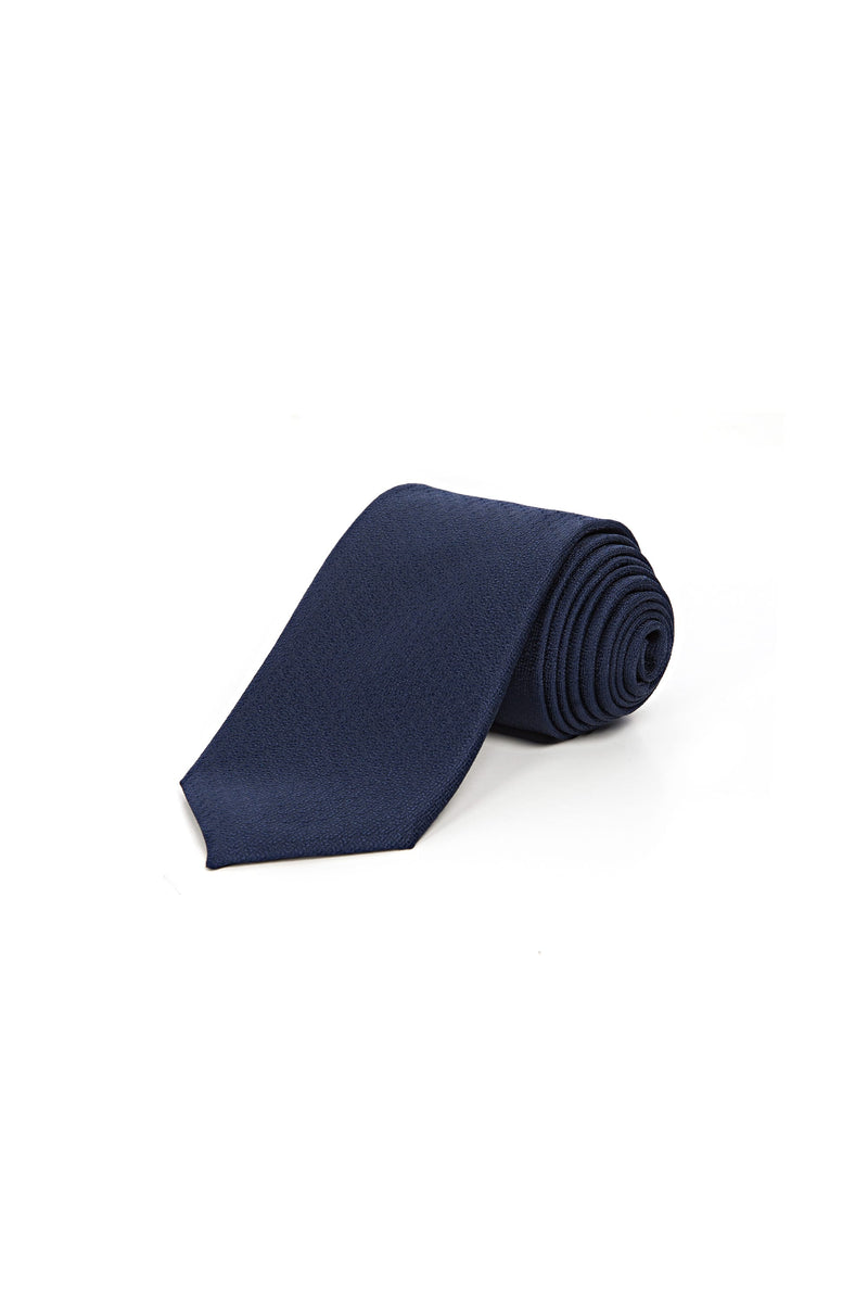 Romano Botta Navy Textured Silk Touch Tie