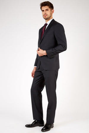 Romano Botta Semi-Slim Fit Two-Button Plain Navy Italian Suit