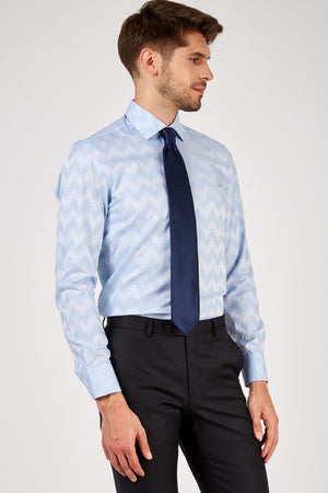 Romano Botta Blue Special Checked Cotton Shirt
