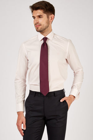 Romano Botta Plain Light Pink Cotton Dress Shirt