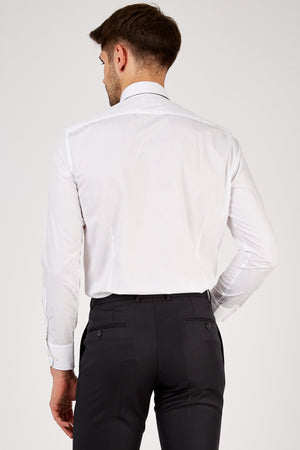 Romano Botta Plain White Cotton Dress Shirt