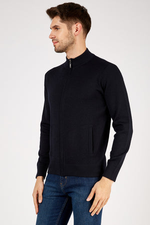 Romano Botta Navy Cardigan Sweater