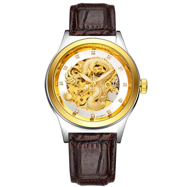 """Euphoria Texas Leather"" gold black white - Panache Watches™"