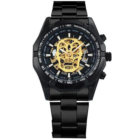 """Euphoria Metaphor Skull"" silver black gold - Panache Watches™"