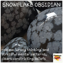 Load image into Gallery viewer, SNOWFLAKE OBSIDIAN TUMBLED STONE