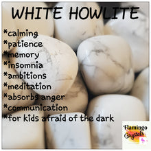 Load image into Gallery viewer, WHITE HOWLITE TUMBLED STONE