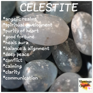 CELESTITE TUMBLED STONE - BULK LOT