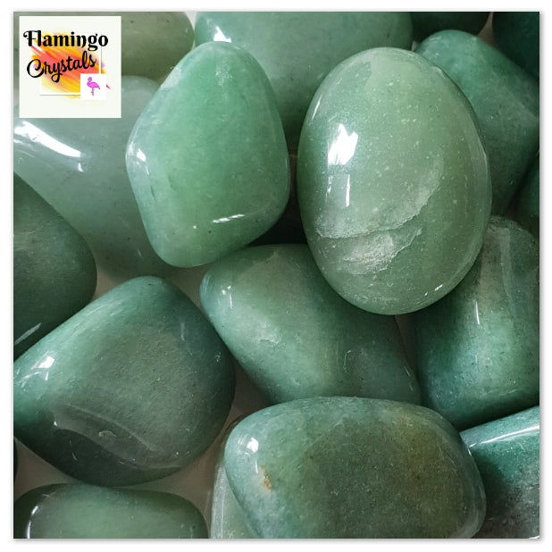 GREEN AVENTURINE TUMBLED STONE - BULK LOT