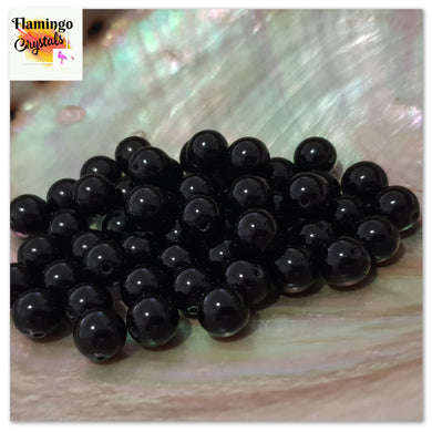 BLACK OBSIDIAN BEADS