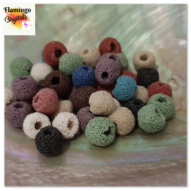 COLOURED LAVA BEADS