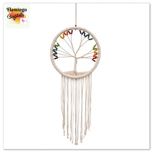 MACRAME DREAMCATCHER - TREE OF LIFE