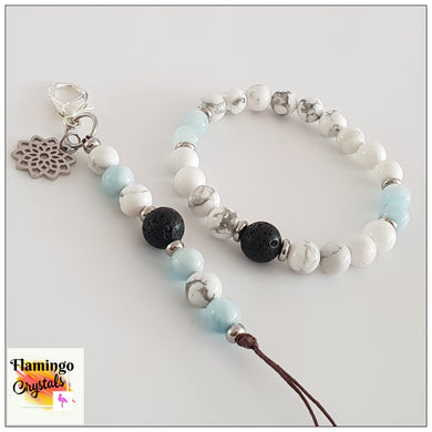 PEACE BRACELET & DANGLER DIFFUSER SET