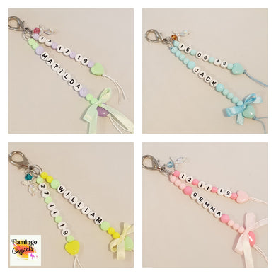 PERSONALISED BABY DANGLER
