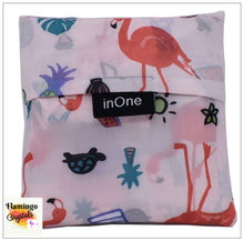 Load image into Gallery viewer, REUSABLE FOLDABLE FLAMINGO SHOPPING BAG