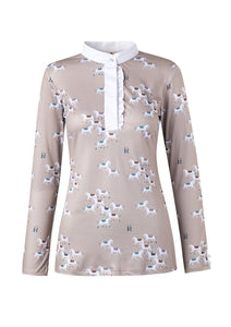 Ronner Bianca Show Shirt | Long Sleeve Herds Taupe