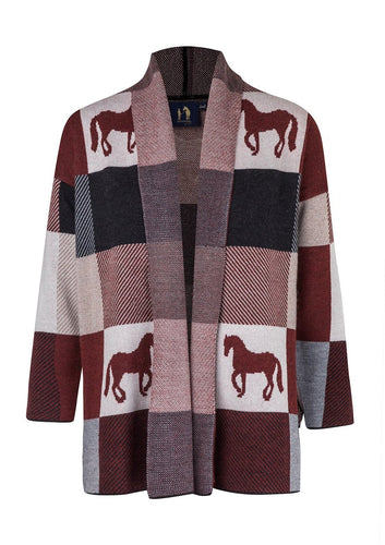 Ronner Plaid Poncho | Burgundy or Navy