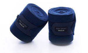 Rider By Horse Sport Greenline Fleece Bandages Set of 4 - NAVY FULL