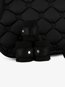 PS of Sweden Ruffle Collection | Beluga Black | Dressage Saddle Pad + Bandages SET