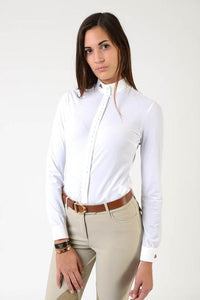 Makebe Dafne One Thousand Buttons Shirt Light BLUE or WHITE
